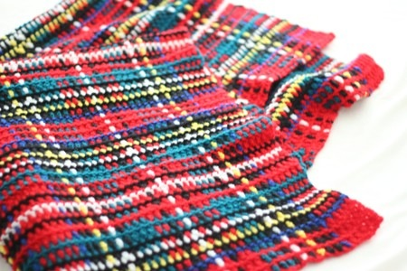 Crochet Tartan Rug Free | Only New
