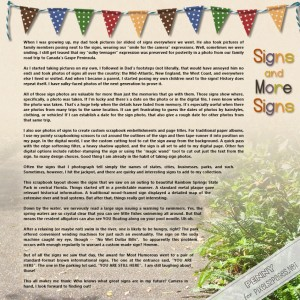 pixels2Pages Scrapbooking Blog-Signs and More Signs