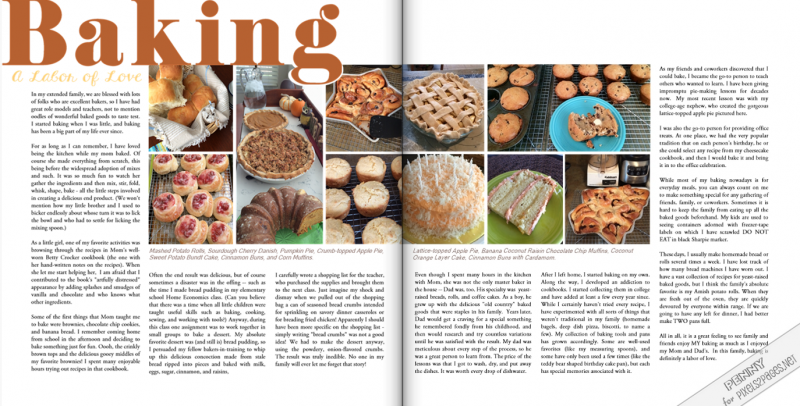 pixels2Pages Scrapbooking Blog - Baking: A Labor of Love