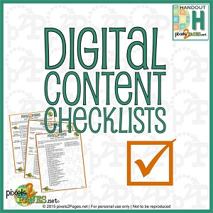 Digital Content Checklists
