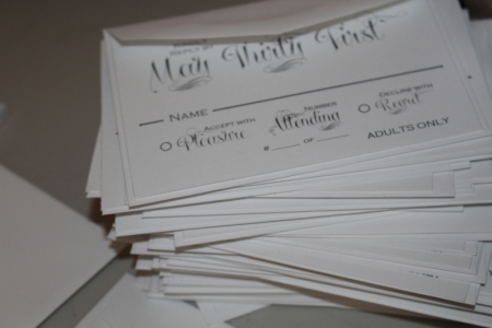 RSVP cards designed in Artisan.