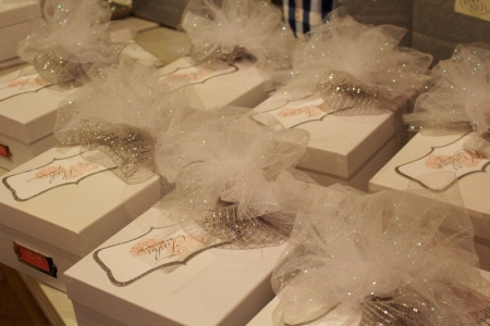 Bridesmaid gift boxes.