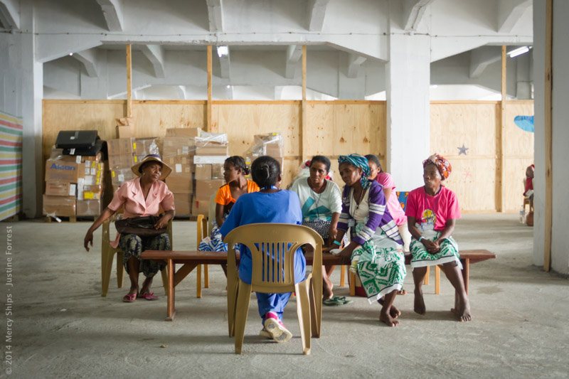 Photo Credit Justine Forrest, Women wait at the Women's Health and VVF Screening