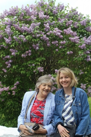She loved flowers, especially the fragrant lilacs on Mackinac Island.