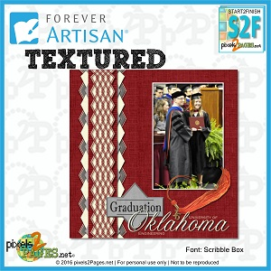 Forever Artisan, digital scrapbooking layouts, texture, pixels2Pages.net